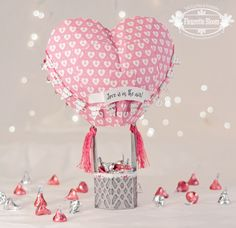 Clear Stamps, Ink and SVG Cut Files designed for Cricut Explore, Silhouette CAMEO, Sizzix eclips, and many other SVG compatible electronic cutting machines. Balloon Box, Hot Air Balloon, Air Ballon, Valentine Day Boxes, Valentine Crafts, Fun Crafts, Paper Crafts, Love Is, Paper Piecing Patterns