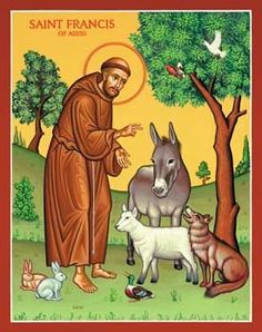 St. Francis of Assissi, a vegetarian