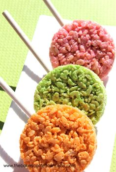 Rice Krispies Treat Lollipops