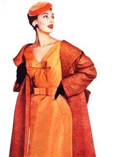 L'Officiel September 1954 Dress and coat by Jean Patou