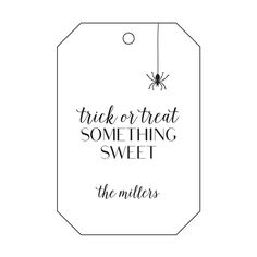 Haute Papier's personalized letterpress gift tags are the perfect finish to Halloween treats.