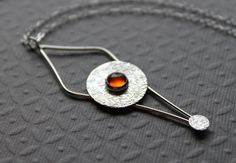 **Use coupon code PIN10 and get 10% off your entire purchase! Sterling Silver Necklace  Amber  Pendulum by tladesigns on Etsy