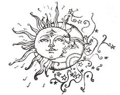 I've Been Searching For The Perfect Sun/moon Drawing For A Tattoo And I've Finally Found One! Thank Youuuu - Tattoo Ideas Top Picks Tattoo Mond, Tattoo L, Tatoo Art, Star Tattoos, Love Tattoos, Body Art Tattoos, New Tattoos, Awesome Tattoos, Sun Moon