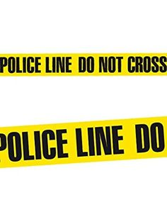 Absperrband POLICE LINE DO NOT CROSS Halloween Deko schwarz gelb 20m x 7,5cm