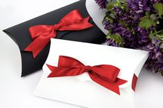 6 Large Pillow Boxes  7.75 x 4.5 x 1.5  by WishDesignStudio, $15.00
