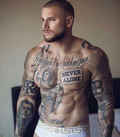 Tattooed males have a fun pound