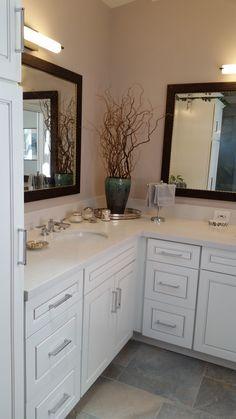Dixieline Lumber Bath Remodel   Diamond Cabinets, Anden Door In Coconut.