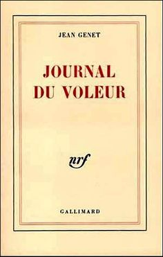 French book cover for Jean Genet's The Thief's Journal