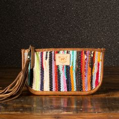 Will Leather Goods Indian Silk Rag Rug Clutch. The perfect music festival clutch.