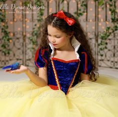 Snow White Costume Princess Gown Tutu Dress by EllaDynae on Etsy
