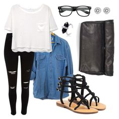 """""""Untitled #13"""" by sydney-alexis-spradley on Polyvore featuring Topshop, MANGO, Mystique and Michael Kors"""