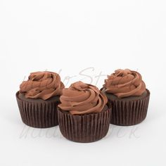 Chocolate Cupcake Mock up Mockup w/ White Background by UddoStock