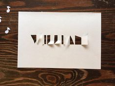 NAME SIGN paper cut and fold A5 baby von PapirKlippKompaniet