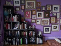 """good purple, great collage. Lindsay's """"Purple, Purple, Purple"""" Room Room for Color 2011 