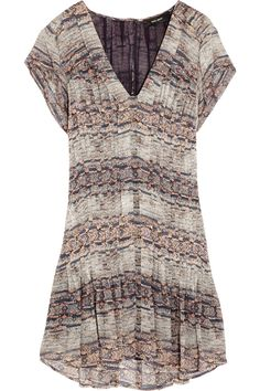 Isabel MarantNocky pleated printed silk-georgette dress