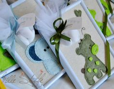 Millestoffe di Sara Menapace added 24 new photos to the album: Bomboniere. Jungle Theme, Canvas Frame, Felt Crafts, Baby Boy Shower, Christening, Baby Room, Baby Gifts, Favors, Projects To Try