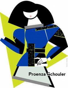 Proenza Schouler A / W 2014 par Lauren Rolwing