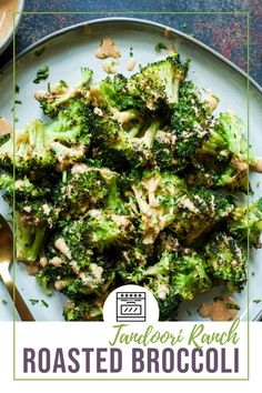 The easiest and BEST way to make roasted broccoli in under 20 mins, plus it is perfectly crunchy, perfectly tender and has so much flavor. The tandoori ranch drizzle on top seals the deal with this side dish. #Roastedbroccoli #broccoli #vegetarian #vegetarianside #ranchdressing #perfectbroccoli #ovenroastedbroccoli #ovenroasted #Thanksgivingside Thanksgiving Dinner Recipes, Thanksgiving Side Dishes, Vegetarian Thanksgiving, Thanksgiving Leftovers, Curry Recipes, Vegetarian Recipes, Healthy Recipes, Delicious Recipes, Best Side Dishes