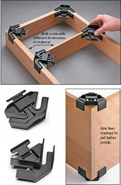 Right-Angle Assembly Clamps http://leevalley.com/en/wood/page.aspx?p=53673&cat=1,43838