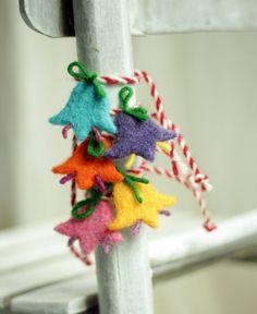 Martenitsa - Set Of Five Bracelet - Needle Felt Flowers - Old Bulgarian tradition related to welcoming the upcoming spring - Needle Felted Animals, Needle Felting, Baba Marta, Handmade Rakhi Designs, Felt Fruit, Doll Home, Felt Brooch, Pink Blossom, Green Gifts