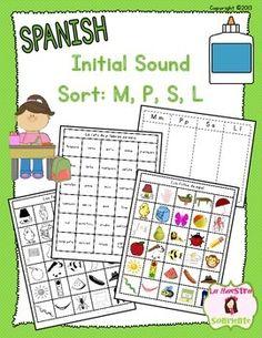 Bingo de sonido inicial. P,L ,M , S
