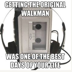 "The Walkman. I remember when this was cool. Also when the ""discman"" became popular and the walkman was out-dated. Today's kids and their ipods/iphones will have no clue. I totally remember delivering newspapers listening to tapes on my walkman! My Childhood Memories, Childhood Toys, Sweet Memories, Childhood Quotes, Memories Box, School Memories, Cherished Memories, Radios, Popular Toys"
