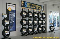tire display | Tire Rack Merchandising Displays