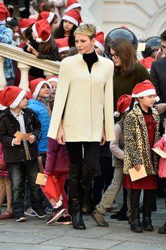 Charlene Wittstock Photos - Christmas Gifts Distribution at Monaco Palace in Monte-Carlo - Zimbio