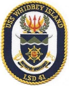 LSD-41 PATCH USS WHIDBEY ISLAND PATCH