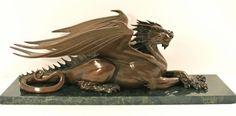 'Feldspar' Bronze of a Dragon by Paul Kidby.