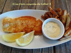 Les plats cuisinés de Esther B: Fish and chips santé Fish And Chips, Esther, Ethnic Recipes, Impression, Food, Pizza, Fruit, Fish Fry, Coleslaw