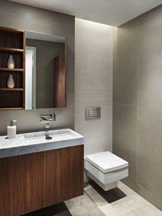 Society Hill Townhouse - modern - powder room - philadelphia - k YODER design, LLC Bad Inspiration, Bathroom Inspiration, Bathroom Renos, Bathroom Interior, Bathroom Ideas, Basement Bathroom, Bathroom Designs, Powder Room Vanity, Modern Powder Rooms