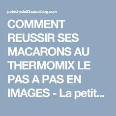 COMMENT REUSSIR SES MACARONS AU THERMOMIX LE PAS A PAS EN IMAGES - La petite popotte de patoche !