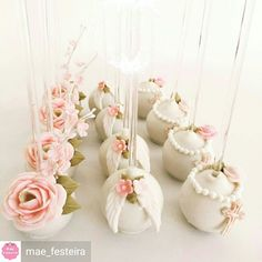 """""""She is more precious than jewels. Elegant Cake Pops, Elegant Cakes, Baptism Cake Pops, Baptism Cookies, Baptism Party Decorations, Baby Girl Baptism, Communion Cakes, Cute Cakes, Creative Cakes"""