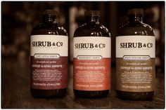 Shrub & Co. mixers, at home or in a coconut cocktail at Trick Dog (SF), or at The Walrus & The Carpenter (Seattle).