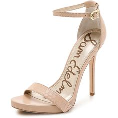Sam Edelman Eleanor Ankle Strap Sandals ($150) ❤ liked on Polyvore
