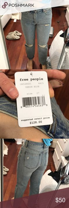 NWT Free People Jeans New free People jeans never worn denim blue Free People Jeans Straight Leg