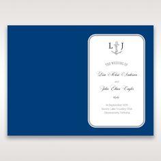 Blue Seaside Romance - Order of Service - Wedding Stationery - 61