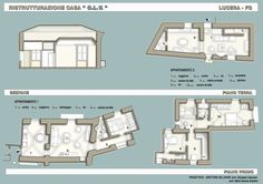 Find out all photos and details of RISTRUTTURAZIONE CASA C., Italy on Archilovers. Browse the complete collection of pictures and design drawings Designs To Draw, Floor Plans, Italy, Home, Italia, Floor Plan Drawing, House Floor Plans
