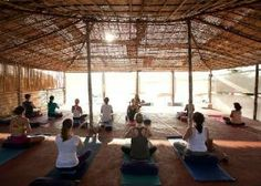 Yoga on the Beach in Goa at Bamboo Yoga Retreat - Patnem Beach  - Goa | LETSGLO #india #yoga #retreat