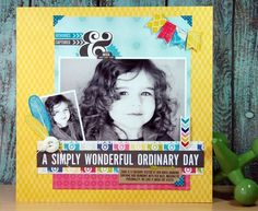 Layout by designer Jennifer Gallacher using Echo Park Paper's Here & Now Collection.