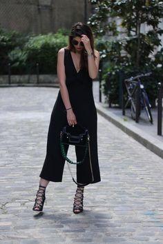 Il fallait que je vous le montre ; mon nouveau sac de l'amour qui tue !!! Dans ce look que j'adore avec ma combi jupe culotte de Zara !
