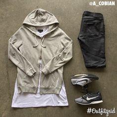 Outfit grid - Hoodie & Nikes