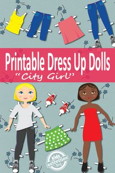 Dress Up Dolls Free Kids Printable - paper dolls!  I love these updated versions of a childhood classic.