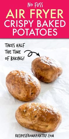 If you haven't made a baked potato in the air fryer, you are seriously missing out! Easy Air Fryer Baked Potatoes turn out light and fluffy inside, with a perfectly crispy skin on the outside. Load them up with your favourite toppings for total baked potato perfection! Click for the Air Fried Potato recipe!! #airfryer #airfryerrecipes #bakedpotatoes #airfried #airfryerbakedpotatoes #wwrecipes #sidedish #AirFryerPotatoes Air Fryer Recipes Chips, Air Fryer Recipes Appetizers, Air Fryer Recipes Vegetables, Air Fryer Recipes Vegetarian, Air Fryer Recipes Low Carb, Air Fryer Recipes Breakfast, Air Frier Recipes, Air Fryer Dinner Recipes, Air Fryer Recipes Potatoes