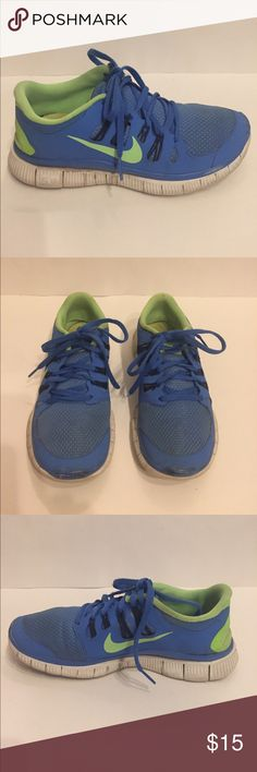 Nike Neon Free 5.0 Run Shoe Nike Neon Free 5.0 Run Shoe, women's size 7.5, bought at Nordstrom, worn numerous times, but still in decent condition, great running shoe!! Nike Shoes Sneakers