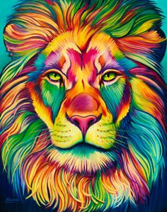 Rainbow Animals Paint By Number Kit/ DIY Digital Oil Painting on Canvas/Deer Tiger Elephant Lion Cat Wolf/Acrylic Painting/ Rainbow painting Giraffe Painting, Lion Painting, Oil Painting On Canvas, Lion Art, Colorful Animals, Colorful Animal Paintings, Arte Pop, Animal Wallpaper, Stretched Canvas Prints