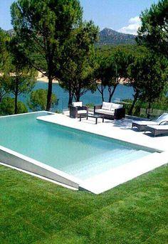 Backyard Pool Landscaping, Small Backyard Pools, Backyard Pool Designs, Small Pools, Swimming Pools Backyard, Lap Pools, Indoor Pools, Above Ground Pool, In Ground Pools