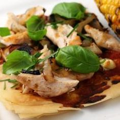 Goat Cheese, Grilled Chicken Pizza