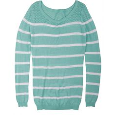 Pointelle Shoulder Stripe ($30)